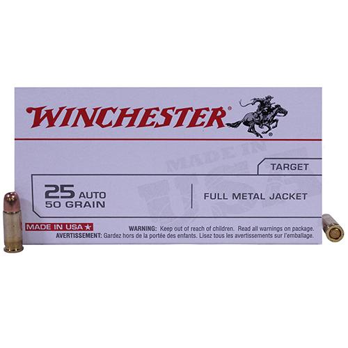 Winchester Ammo USA 25Auto 50Gr. FMJ/50 Mfg# Q4203