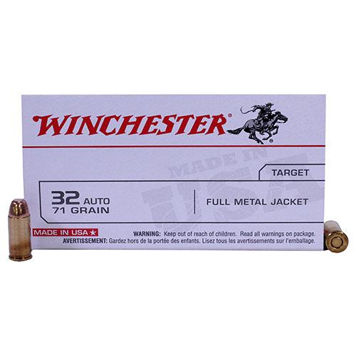 Winchester Ammo USA 32Auto 71Gr. FMJ/50 Mfg# Q4255