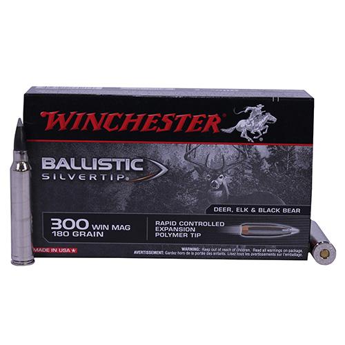 Winchester Ammo Suprem 300WinMag 180grB Silvertip Mfg# SBST300