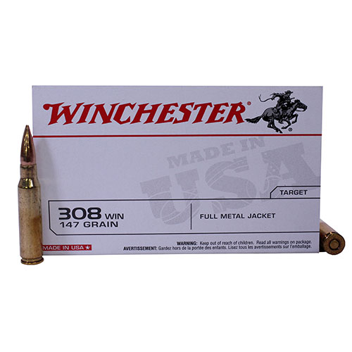 Winchester Ammo USA 308 Win 147Gr. FMJBT/20 Mfg# USA3081