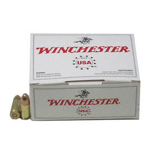 Winchester Ammo USA 9mm Luger 115gr FMJ/100 Mfg# USA9MMVP