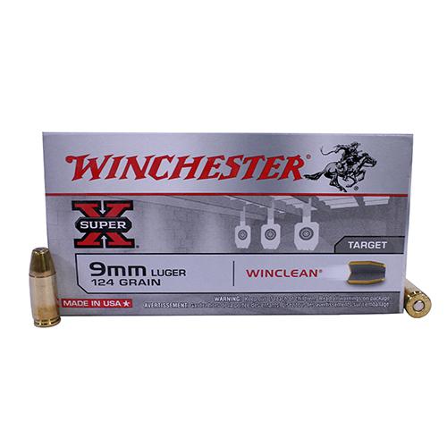 Winchester Ammo USA 9mm Luger 124gr Brass Enc/50 Mfg# WC92