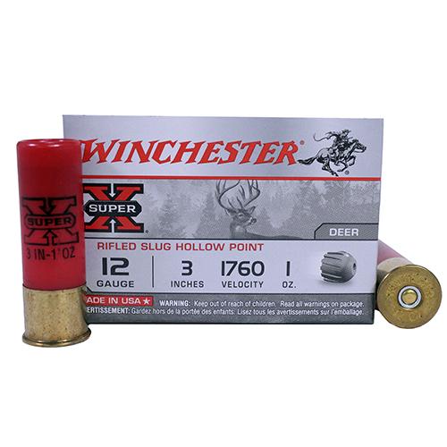 """Winchester Ammo SupX 12ga 3"""" 1oz Rifled Slug /5 Mfg# X123RS15"""