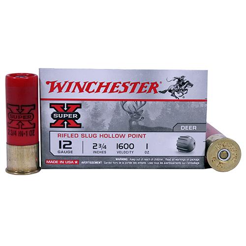 "Winchester Ammo 12Ga. 2.75"" 1oz Rifled/5 Mfg# X12RS15"