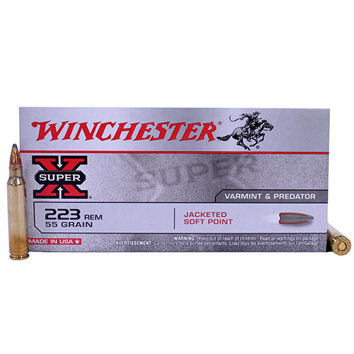 Winchester Ammo SupX 223 Rem 55gr PTD SP /20 Mfg# X223R