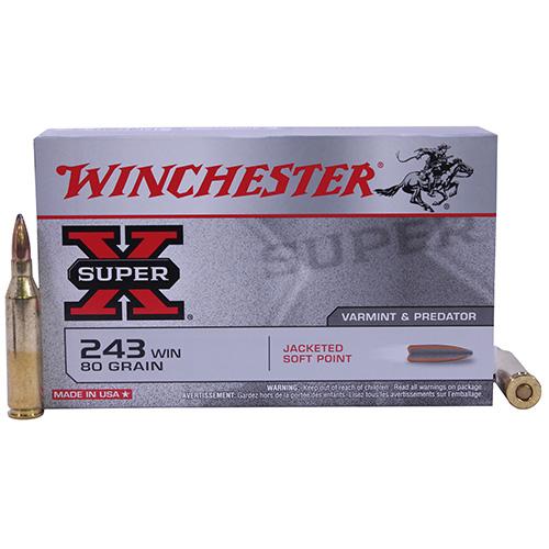 Winchester Ammo SupX 243 Win 80gr PTD SP /20 Mfg# X2431