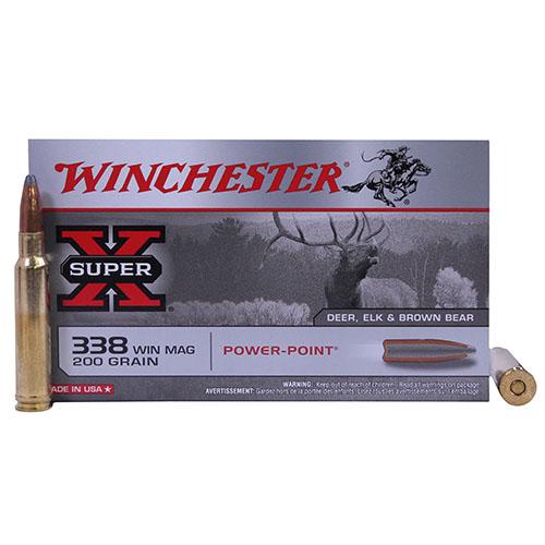 Winchester Ammo SupX 338 Mag 200gr Power Point/20 Mfg# X3381