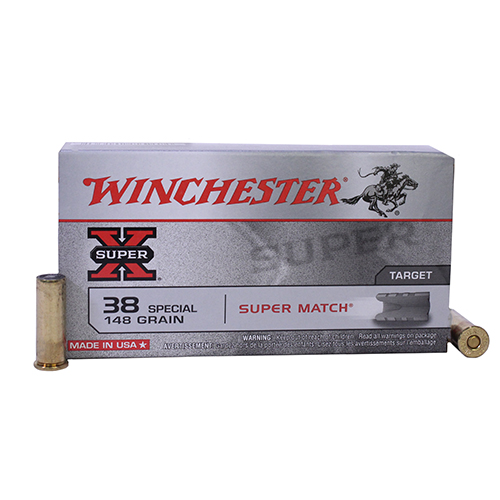 Winchester Ammo SupX 38 SPL 148gr Lead Wadcut/50 Mfg# X38SMRP