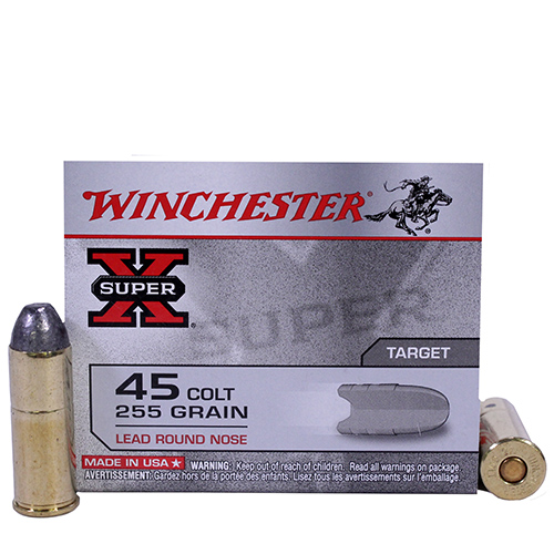 Winchester Ammo SupX 45 Colt 255Gr. Lead RN/20 Mfg# X45CP2