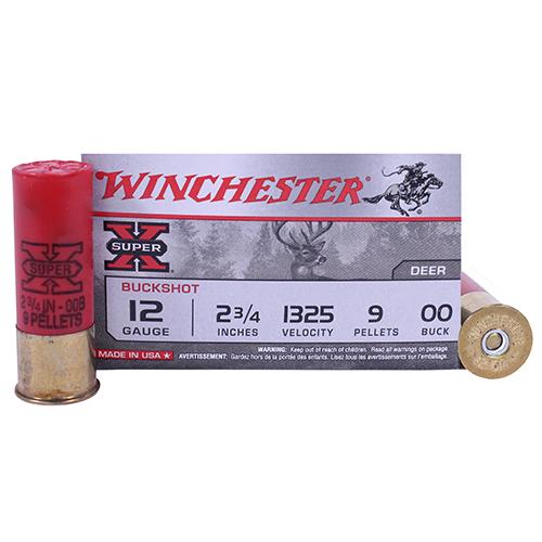 "Winchester Ammo SupX 12ga 00-Buck 2.75"" Shot/5 Mfg# XB1200"