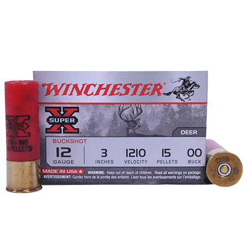 "Winchester Ammo SupX 12ga 00-Buck 3"" Mag BuckShot Mfg# XB12300"