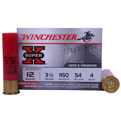 "Winchester Ammo SupX 12ga 3.5"" Mag Buck Shot/5 Mfg# XB12L4"