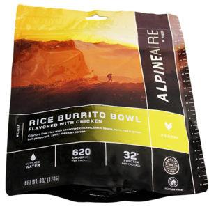 Alpine Aire Foods Chicken & Rice Burrito Bowl Serves 2 Mfg# 60453