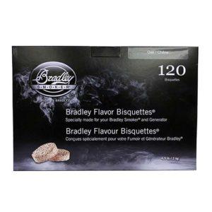 Bradley Technologies Oak Bisquettes (120 Pack) Mfg# BTOK120