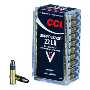 CCI 22LR Suppressor 45gr HP /50 Mfg# 957