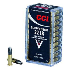 CCI 22LR Suppressor 45gr HP /50 Mfg# 957