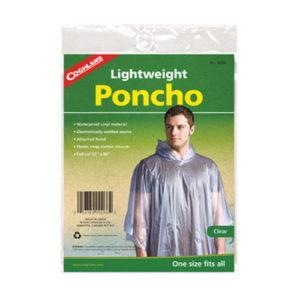Coghlans Poncho -- clear    Mfg# 9266