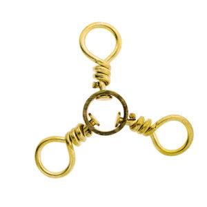 Eagle Claw 3-way Swivel-6 Brass 01251-006 12pcs Mfg# 01251-006