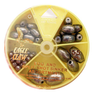 Eagle Claw Egg Sinker And Split-shot Assortment 55pc Mfg# 02180H-003