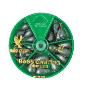Eagle Claw Bass Cast Sinker Assortment 27pcs Mfg# 02180H-004