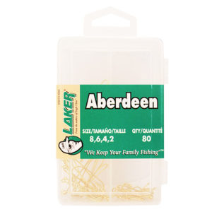 Eagle Claw Aberdeen Hook Assortment 80pcs Mfg# 05010-004