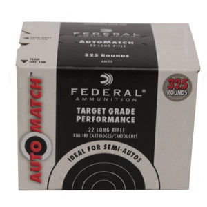 Federal Cartridge 22LR AutoMatch Target 40gr LRN /325 Mfg# AM22