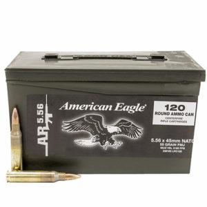 Federal Cartridge 5.56mm 55gr FMJ Poly Ammo Can /120 Mfg# XM193LPC120