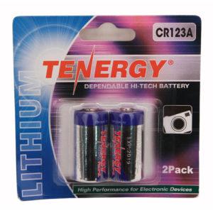 Fenix Flashlights Tenergy CR123 2Pack (Retail),Chrome Mfg# 30407