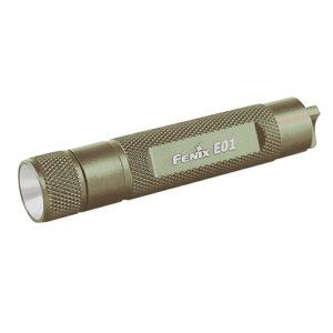 Fenix Flashlights 13 Lumens Fenix E Series, AAA,Olive Mfg# FX-E01OLV