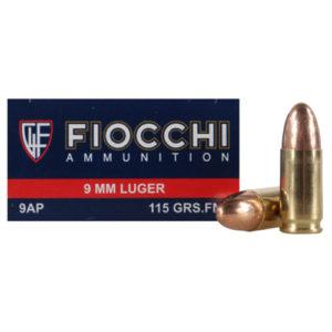 Fiocchi Ammo 9mm 115gr FMJ /50 Mfg# 9AP
