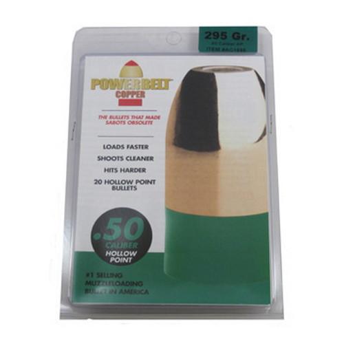 Powerbelt Bullets PowerBelt 20 pk .50Cal 295gr Copper, HP Mfg# AC1595