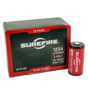 Surefire 12 SF123A Batteries,Boxed Mfg# SF12-BB