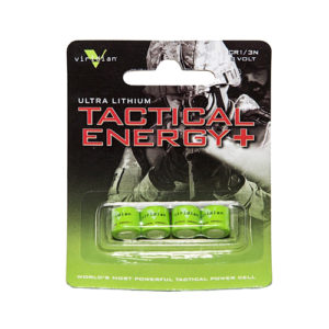 Viridian Green Lasers Viridian 1/3n Lithium Battery 4-pack Mfg# VIR-13N-4