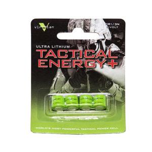 Viridian Green Lasers Viridian 1/3n Lithium Battery 4-pack Mfg# VIR-13N-4