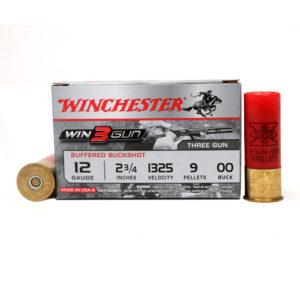 "Winchester Ammo 3Gun 12ga 2.75"" 9 Pellet 00 Buck /5 Mfg# XB1200TG"